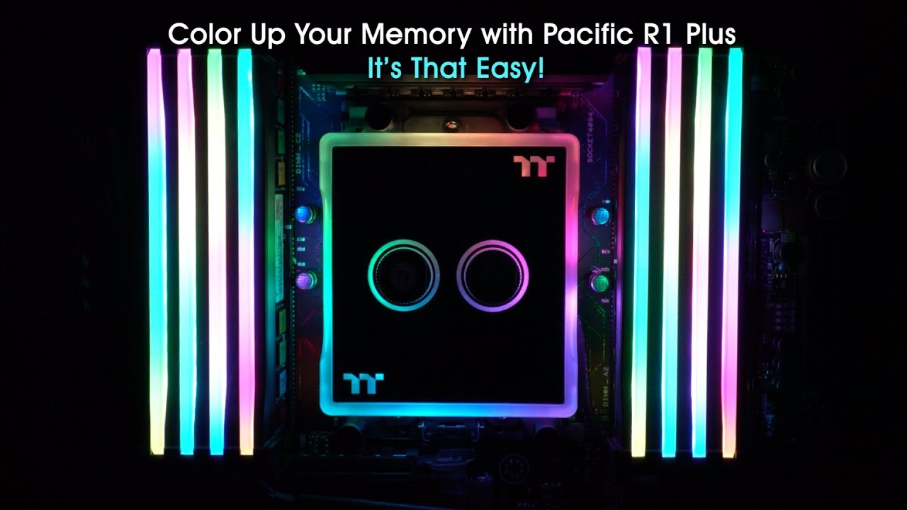 ThermalTake Pacific R1 Plus Memory RGB Lighting Kit w