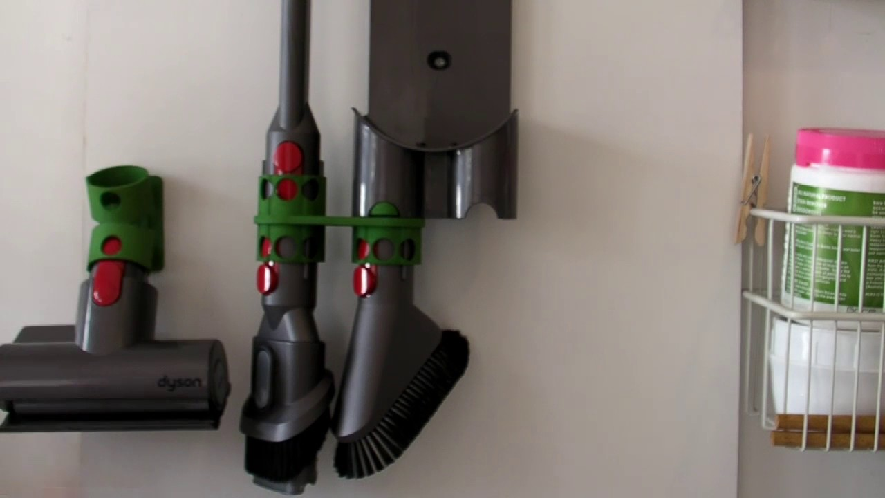 Wall Mount Adapter for Dyson V8 - extra tool holder - Left ...