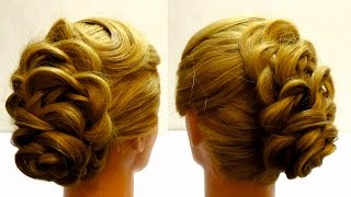 Вечерняя прическа. Красивая прическа с косами. Видео урок