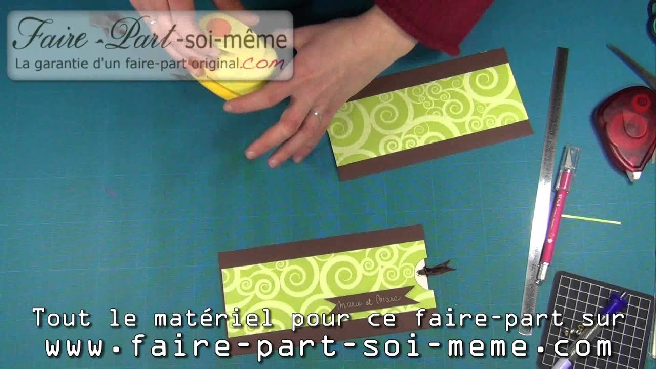 Faire part de mariage pochette chocolat anis youtube - Faire son ilot central soi meme ...