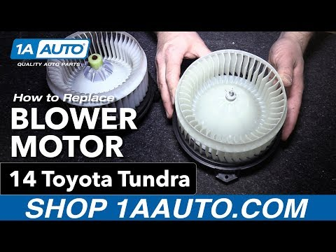 How To Replace Install Blower Motor 14 Toyota Tundra