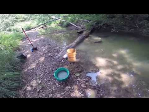 Prospecting a New creek in Brown County, Indiana
