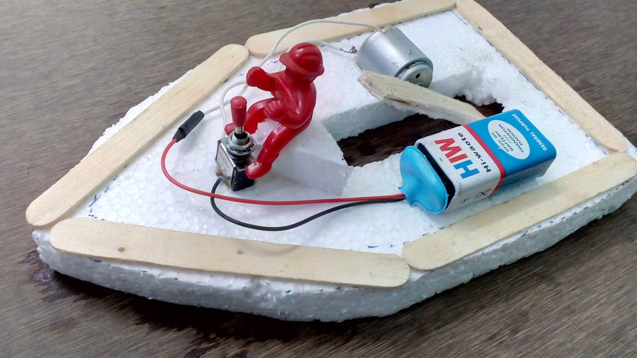 How to Make Electric Boat at home - Easy Way - YouTube