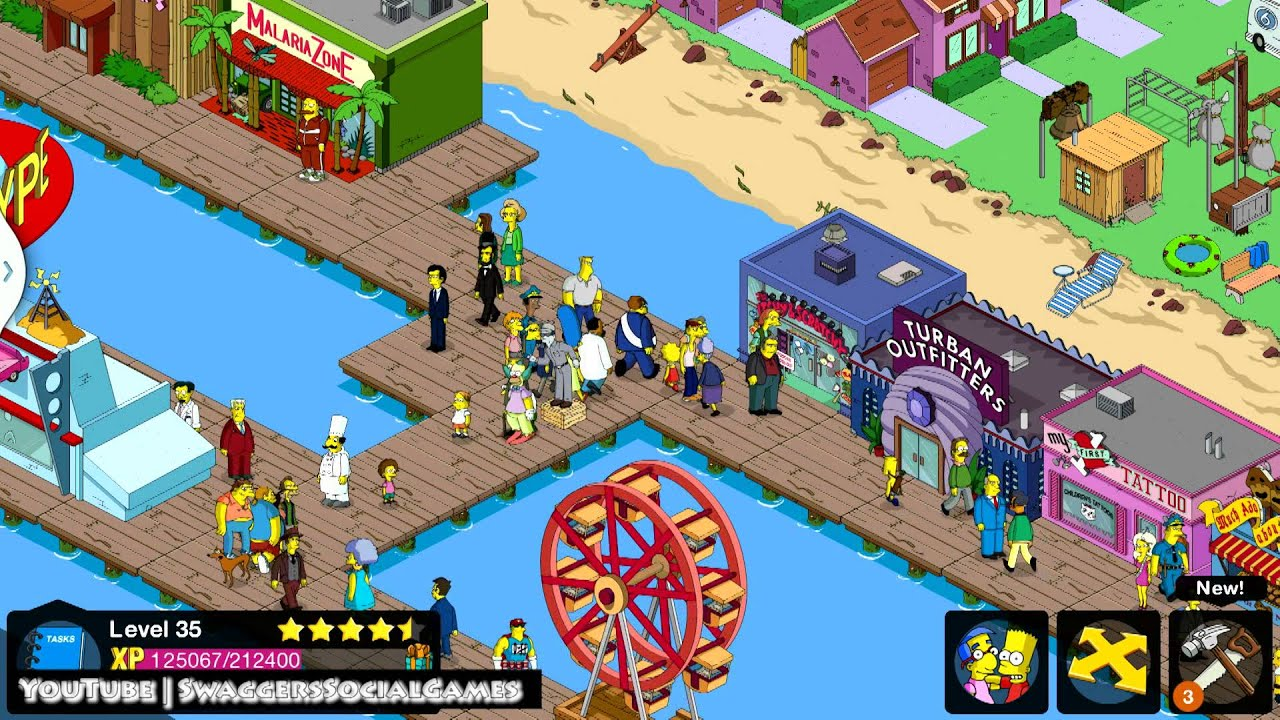 Simpsons Tapped Out: Full Level 35 Quest Walkthrough - YouTube