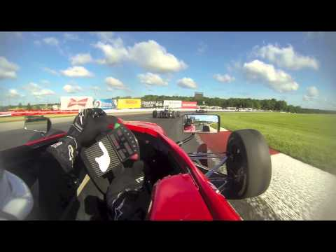 USF2000 2013 Rd10 Mid Ohio - Michael Epps (big crash at start)