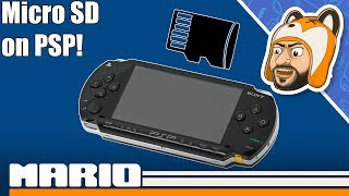 How To Use a Micro SD Card on a PSP! - High Capacity PSP Storage Setup