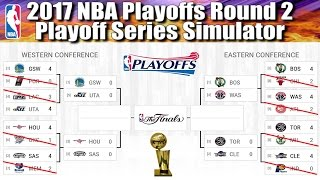 2017 NBA Playoffs Semi Conference Finals Round 2 - Playoff Series Simulator