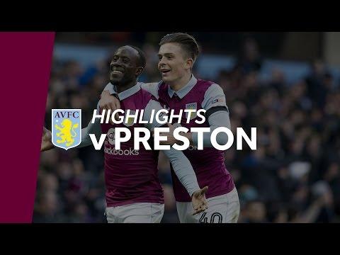 Aston Villa 2-2 Preston   Highlights