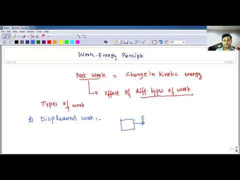 Concept of Work Energy Principle Engineering Mechanics