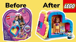 LEGO Friends レゴ フレンズ | Build Olivia heart box | STOP MOTION Movie | Unboxing