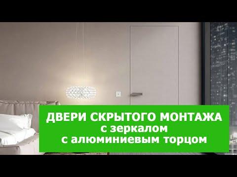 Двери скрытого монтажа с зеркалом