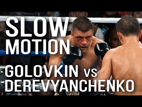 Golovkin Vs. Derevyanchenko. SLOW MOTION. Головкин - Деревянченко.
