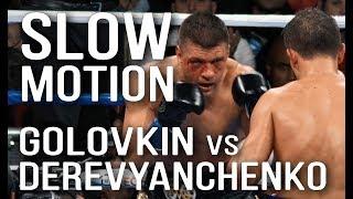 Golovkin vs. Derevyanchenko. SLOW MOTION. Головкин - Деревянченко.