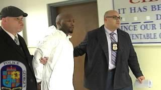 perp walk of suspect arrested in mother daughter homicide