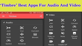 How to Join,cut,convert,Speed,Reverse of audio,mp3 and video songs by one Apps in Mobile 'Timbre'