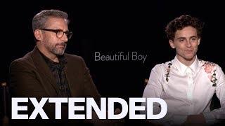 Timothee Chalamet, Steve Carell Talk Message Behind 'Beautiful Boy'   TIFF18
