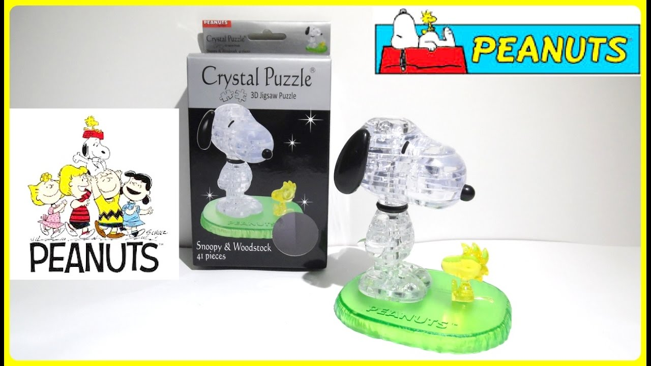 New 41 Piece PEANUTS Snoopy and Woodstock 3D Crystal Puzzle