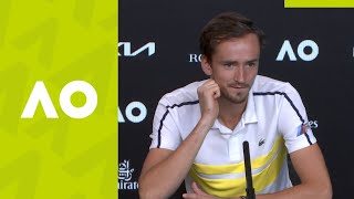 "Daniil Medvedev: ""I didn't play my best"" press conference (F) 