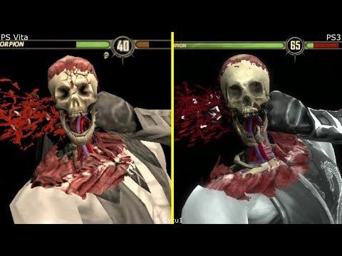 Mortal Kombat PS Vita Vs PS3 Graphics Comparison