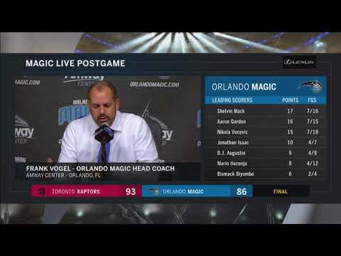 Frank Vogel -- Orlando Magic vs. Toronto Raptors 03/20/2018