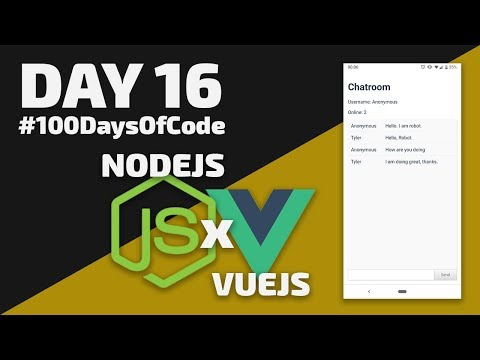 How to create a CHAT APP in VueJS & NodeJS - Day 16 - #100DaysOfCode thumbnail