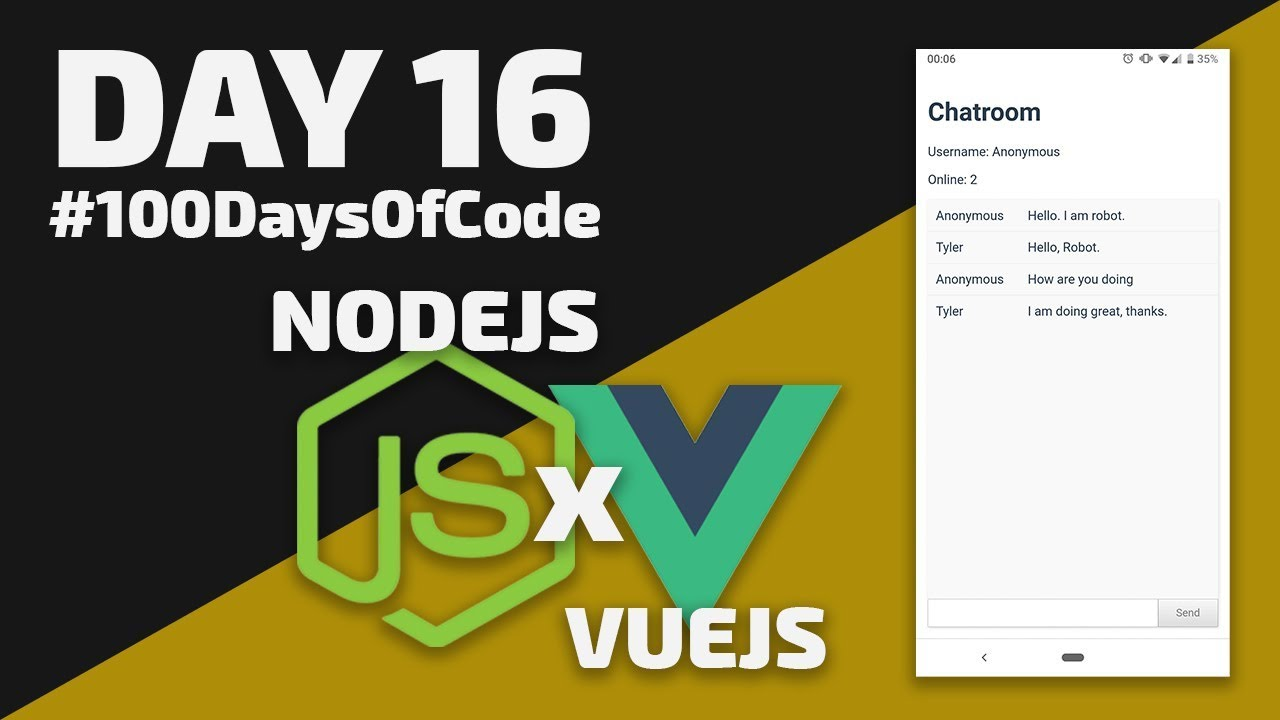 How to Create a Chat App in VueJS & NodeJS