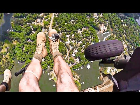 GoPro POV - Army Rangers Airborne Jump Onto Stringer Drop Zone | 5th Ranger Training Battalion