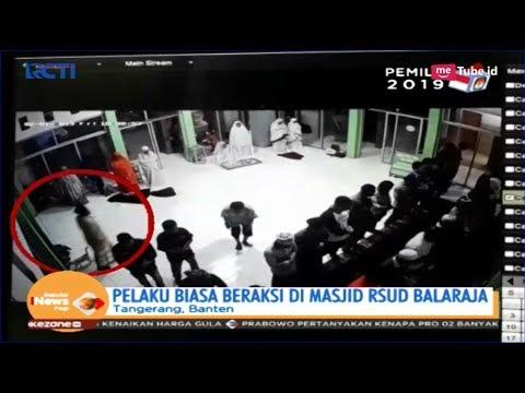 Aksi Pencurian Tas Jamaah Masjid di RSUD Balaraja Terekam CCTV
