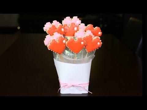 8-Bit Heart Cookie Bouquet - QUAKE N BAKE