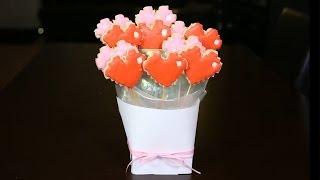 8-Bit Heart Cookie Bouquet - QUAKE N BAKE thumbnail