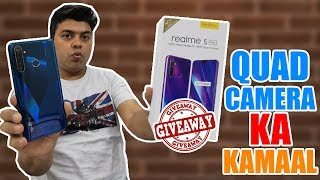 Giveaway, Realme 5 Pro Ka Real Unboxing | All Pros and Cons Mentioned | Quad Camera Ka Kamal