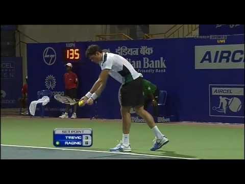 Milos Raonic vs. Janko Tipsarevic Full Match Chennai 2012