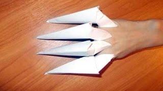 Как сделать из бумаги когти(Как сделать из бумаги когти. Очень простая инструкция. Запоминается легко. Я запомнил с первого раза., 2014-05-06T07:59:43.000Z)