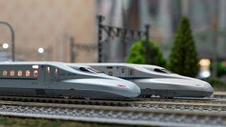 【Nゲージ】ジオラマ90%完成 N700系新幹線+223系電車 走行動画