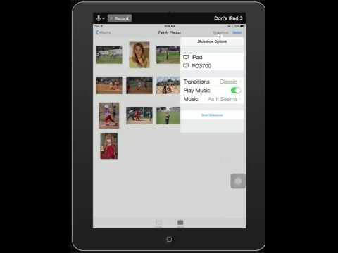 Simple Slideshow Using the iPad Photos App
