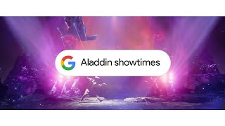 Here to help: Showtimes with Google Search (Aladdin)