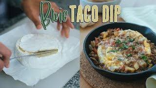 Brie Cheese Taco Dip | The Perfect Keto Party Food
