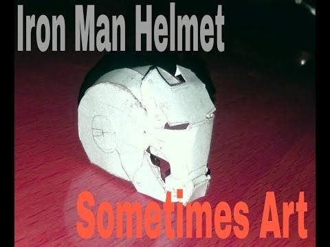 How to make Iron-man's helmet with paper |Making Iron-man Helmet [Iron-man]|Sometimes Art