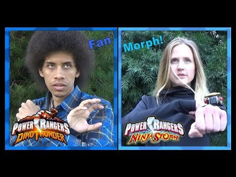 Dino Thunder Blue & Ninja Storm Blue (Power Rangers Fan Morph) *Retro Style / No VFX*