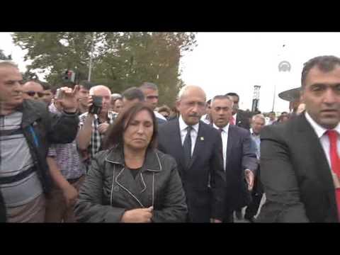 Commemoration ceremony at scene of bomb blast in Ankara
