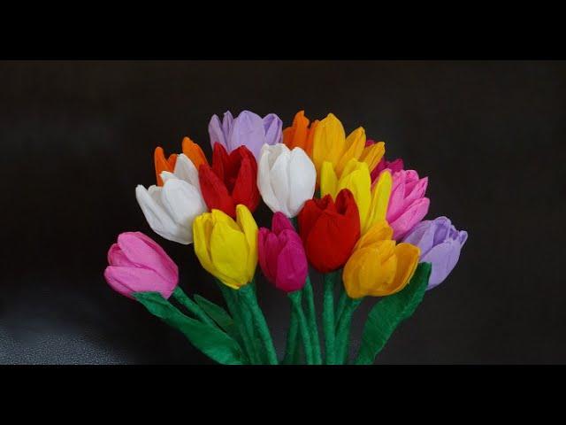 Cara Membuat Bunga Dari Kertas Krep Yang Mudah