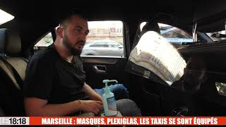 Marseille : masques, plexiglas, les taxis se sont équipés