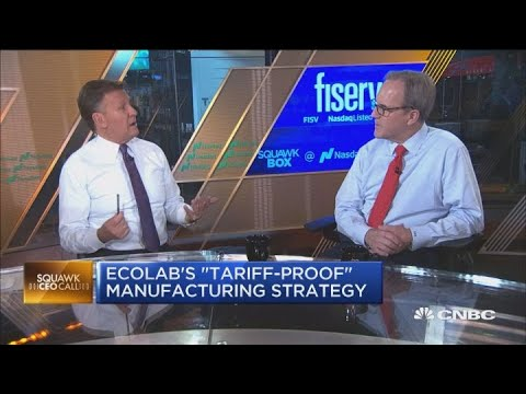 Ecolab CEO on his 'tariff-proof' manufacturing strategy