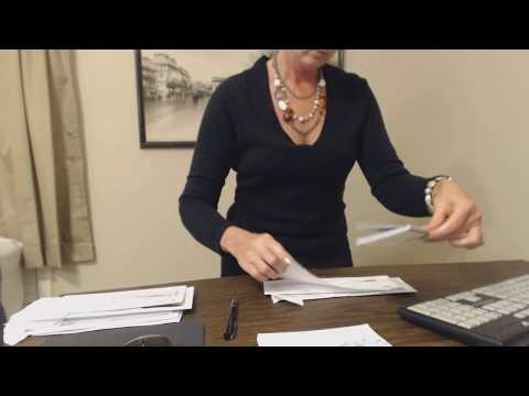 ASMR Request ~ Paying Bills / Writing Checks / Sorting Envelopes / Typing (Inaudible Whisper)