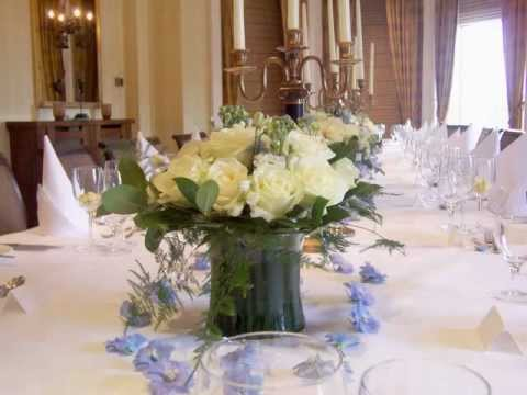 Surrey Wedding Reception Flowers Table Centres Including