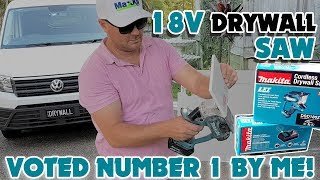 The 18v Makita Drywall Cutting Saw is the easiest way to cut Drywall