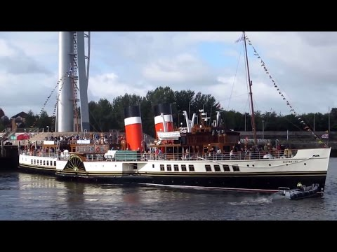 Paddle Steamer Waverley 40th Anniversary Cruise departing Glasgow 24th May 2015.