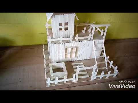 Miniatur rumah dari stik es krim - YouTube