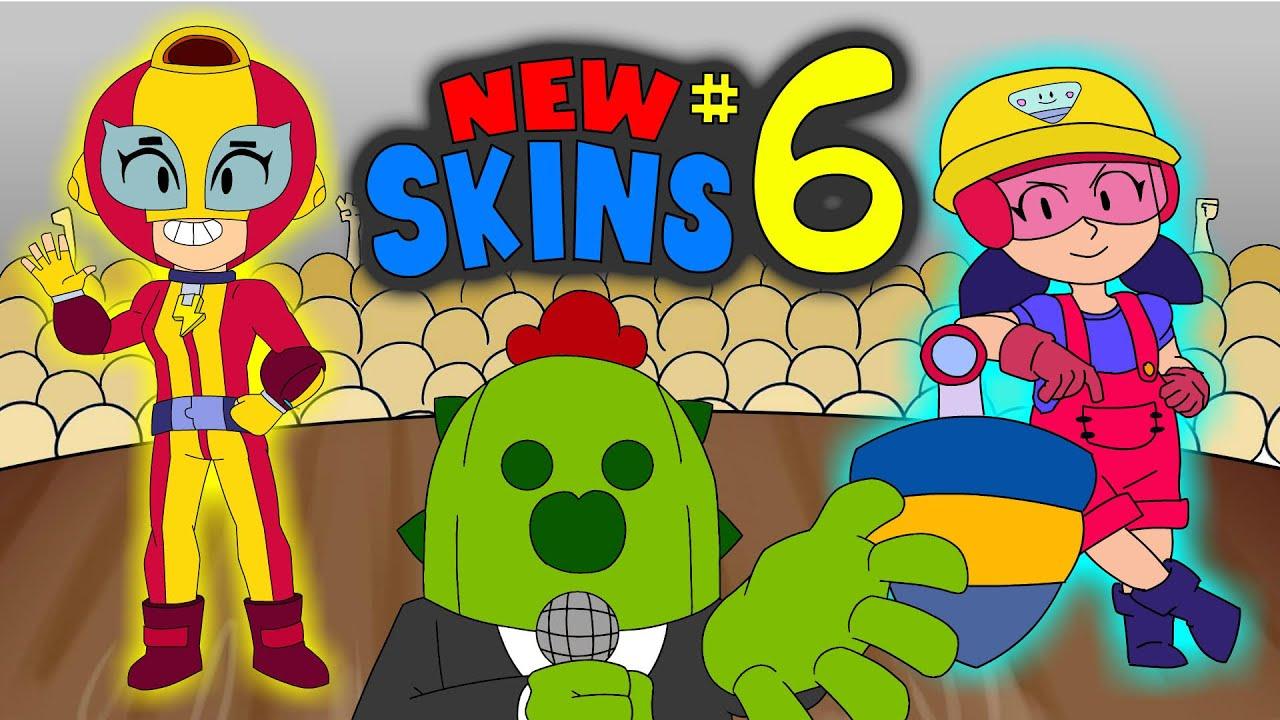 BRAWL STARS ANIMATION NEW SKINS IDEAS #6 JACKY & MAX