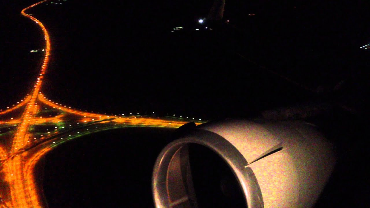 Awesome HD MD-11 Night Takeoff From Kuwait City!!! - YouTube